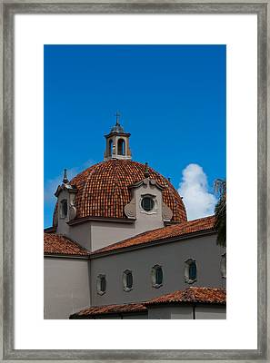 Framed Print featuring the photograph Church Of The Little Flower Dome And Cross by Ed Gleichman