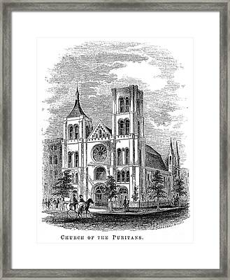 Church Of The Puritans Framed Print by Granger