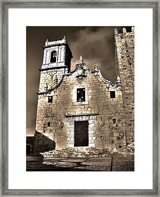 Church Of The Virgen De La Ermitana - Peniscola  Framed Print by Juergen Weiss