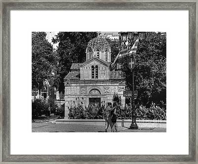 Church Of Theotokos Framed Print by David Bearden
