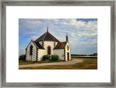 Framed Print featuring the photograph Church Off The Brittany Coast by Dave Mills