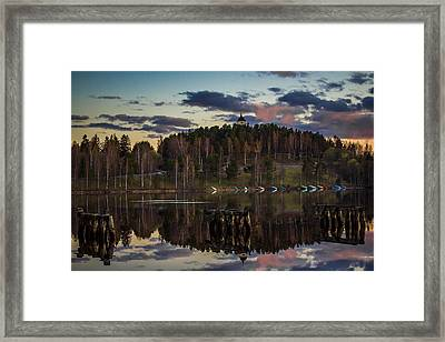 Framed Print featuring the photograph Church On A Hill by Matti Ollikainen