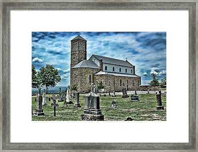Framed Print featuring the photograph Church On The Hill by Renee Hardison