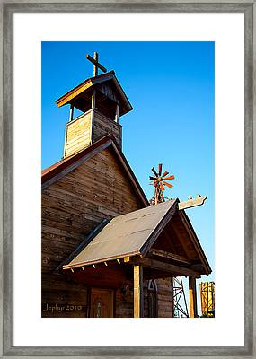 Church On The Mount - Goldfield Ghost Town Framed Print by Jephyr Art