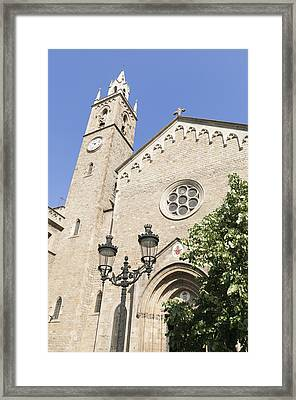 Church Parroquia De La Purissima Concepcio Barcelona Spain Framed Print by Matthias Hauser