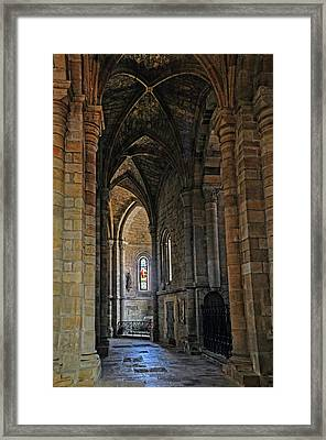 Framed Print featuring the photograph Church Passageway Provence France by Dave Mills