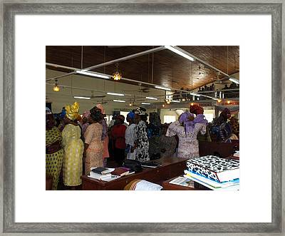 Church Service In Nigeria Framed Print by Amy Hosp