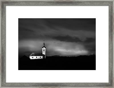 Church Shining Bright Framed Print