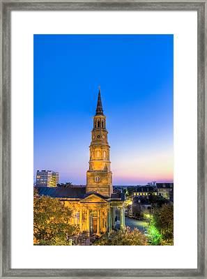Church St. Dusk  Framed Print
