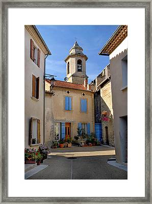 Framed Print featuring the photograph Church Steeple In Provence by Dave Mills