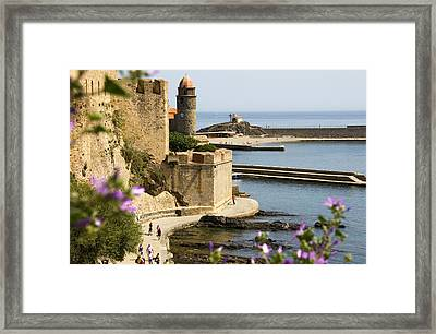 Church Tower Of Notre Dame Des Anges And Harbour Framed Print by Glenn Beanland