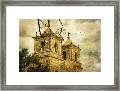 Framed Print featuring the photograph Church Towers by Joan Bertucci