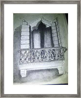 Church Window Framed Print by Irving Starr