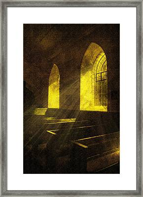 Church Window Light Framed Print by Svetlana Sewell