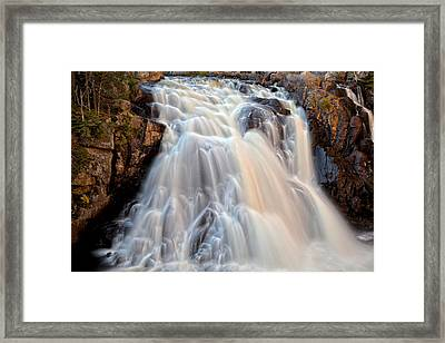 Chutes Du Diable Framed Print