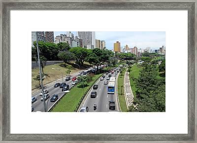 Cidade De São Paulo Framed Print