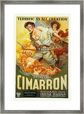 Cimarron, Richard Dix, Irene Dunne, 1931 Framed Print by Everett