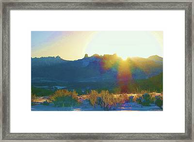 Cimarron Sunrise Framed Print