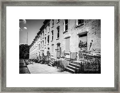 Cincinnati Abandoned Buildings At Glencoe-auburn Complex Framed Print by Paul Velgos