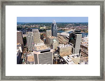 Cincinnati Aerial Skyline 2012 Framed Print by Paul Velgos