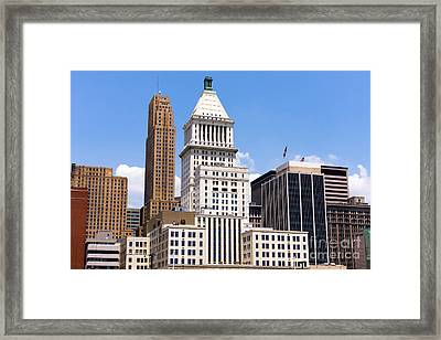 Cincinnati Downtown Buildings Photo Framed Print by Paul Velgos