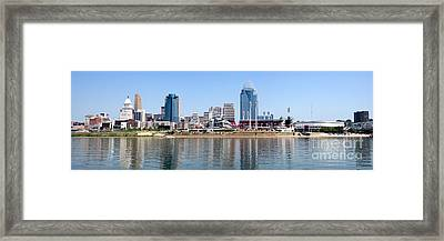 Cincinnati Panorama Skyline Framed Print by Paul Velgos