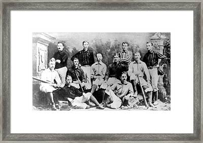 Cincinnati Reds, Baseball Team, 1882 Framed Print