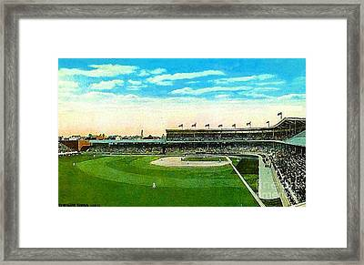 Cincinnati Reds' Redland Field In 1910 Framed Print by Dwight Goss