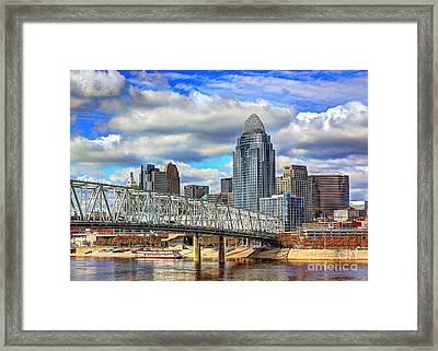 Cincinnati Skyline 2012 Framed Print