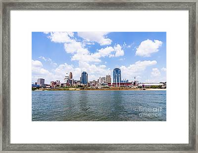 Cincinnati Skyline And Downtown City Buildings Framed Print by Paul Velgos