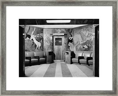 Cincinnati Union Terminal, Linoleum Framed Print by Everett
