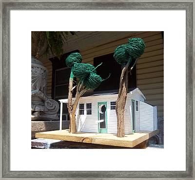 Cindy And Mikes Cottage Framed Print by Gordon Wendling