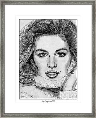 Cindy Crawford In 1990 Framed Print