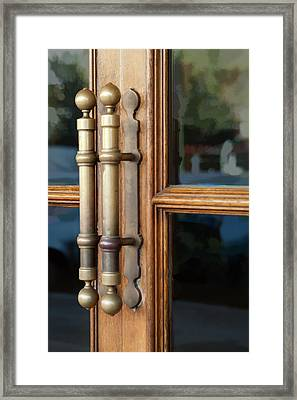 Cinema Door Framed Print by Michael Flood