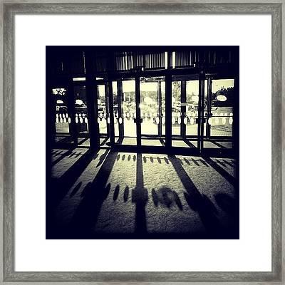Cinema... #door #shadow #blackandwhite Framed Print