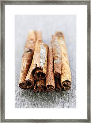 Cinnamon Sticks Framed Print