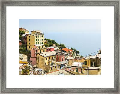 Cinque Terre - Riomaggiore Framed Print by Michal Krakowiak