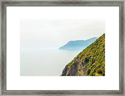 Cinque Terre Coastline Framed Print by Michal Krakowiak