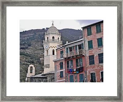 Cinque Terre Iv Framed Print by David Ritsema