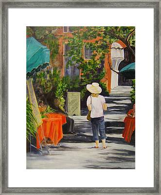 Cinque Terre Stroll Framed Print