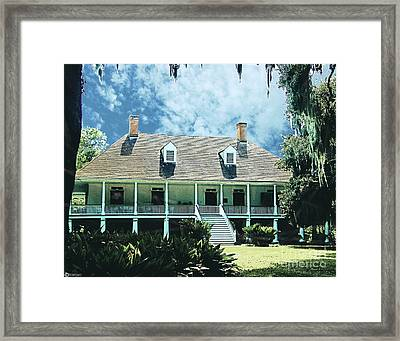 Circa 1750 Parlange Plantation New Roads La Framed Print by Lizi Beard-Ward