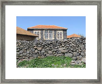 Circassian Village In Golan Framed Print by Issam Hajjar