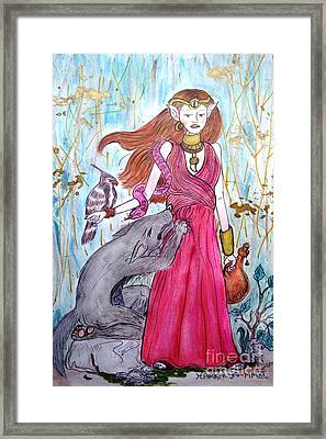 Circe The Sorceress Framed Print by Koral Garcia