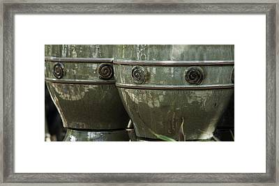 Circle Border Pots Framed Print by Teresa Mucha