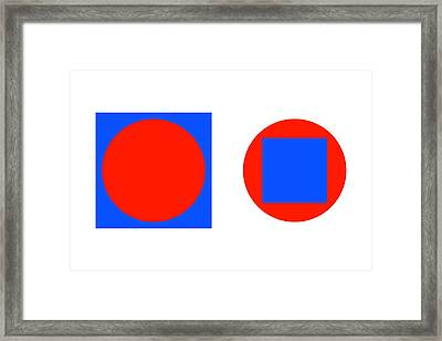 Circle In A Square Illusion Framed Print