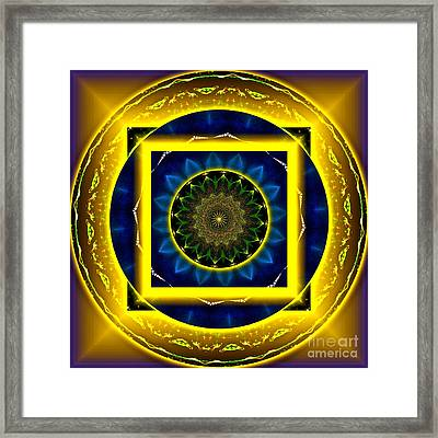 Circle Of Power Framed Print by Rotaunja