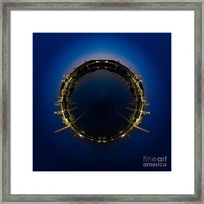 Circle Panorama Of Petrochemical Industry Framed Print by Weerayut Kongsombut