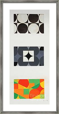 Circle Trio Framed Print