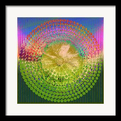 Geometrically Mixed Media Framed Prints