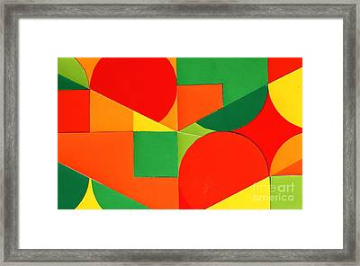 Circles Colorized Framed Print